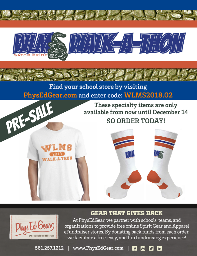 Walk-A-Thon Is Near! Click Here for more information