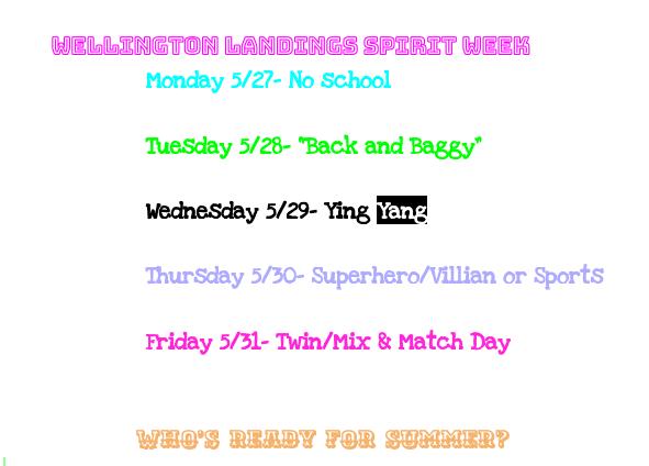 2019 WLMS Spirit Week