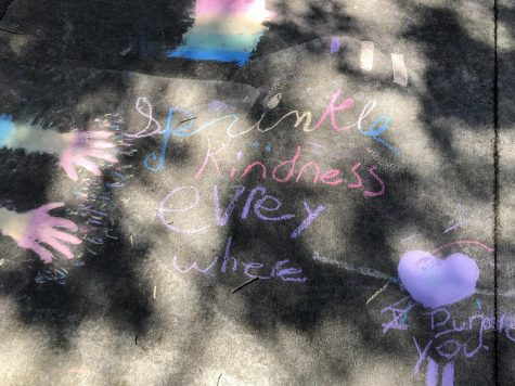 Chalk Art With a Very Important Message